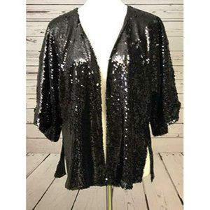 NWT Apricot Lane Boutique Sequin Small Cardigan